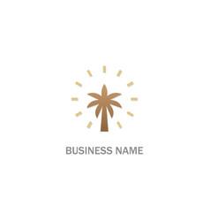 Palm tree plant logo vector
