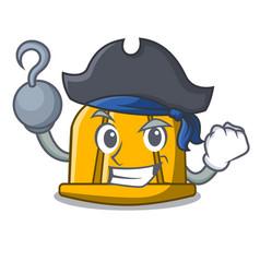 Pirate construction helmet character cartoon vector