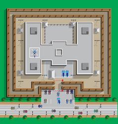 Prison jail penitentiary building vector