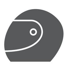 Racing helmet glyph icon protection motorsport vector
