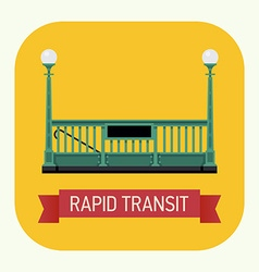 Rapid Transit Icon vector