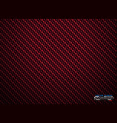 red carbon fiber volume background vector image