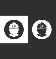 retro coal miner silhouette in a hard hat isolated vector image