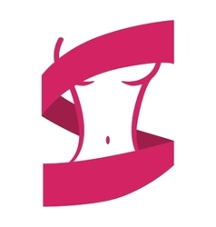 Ribbon icon Hope and breast cancer design vector