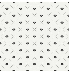 Romantic hipster lips kiss seamless pattern vector image