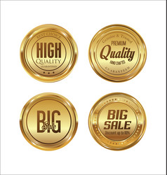 sale luxury golden labels collection 2 vector image