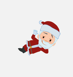 Santa claus lying greets with a dreamy expression vector