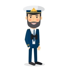 Sea captain character vector image