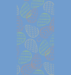 seamless pattern contour easter eggs yellow green vector image