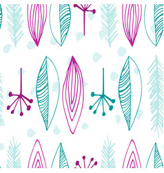 seamless pattern with abstract feathers vector image