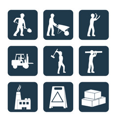 Set of contruction icons vector