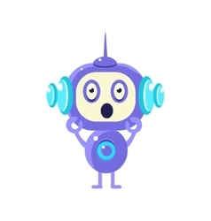 Shocked Little Robot vector image