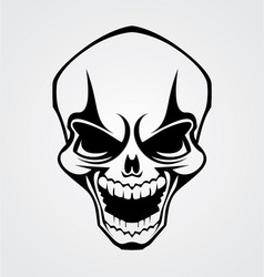 Skull Tribal vector image