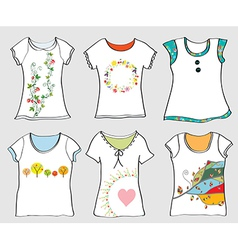 T-shirts templates set vector