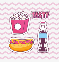 tasty and fast food design vector image