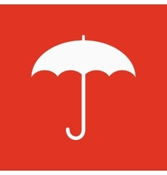 The umbrella icon Protection symbol Flat vector image