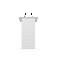tribune podium rostrum speech stand vector image