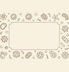 virus horizontal frame virology line vector image