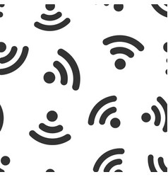 wifi internet sign icon seamless pattern vector image