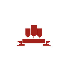 Wine logo design template vector
