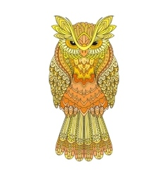 Zentangle owl Ornate vector