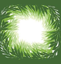 floral frame green leaves background summer vector image