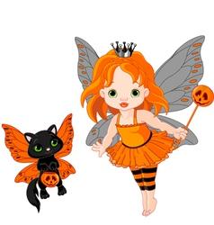 halloween baby fairy vector image vector image