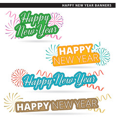 happy new year banners vector image vector image
