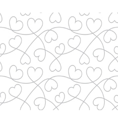 Hearts background Valentines Day Seamless texture vector image