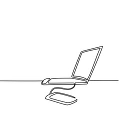 Laptop computer with phone transfer data vector