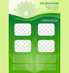 brochure template for relaxation healthcare vector image
