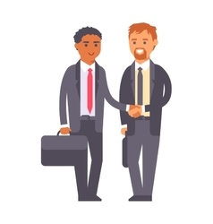 Business team partnership character vector image