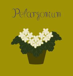 flat stylish background plant vector image vector image
