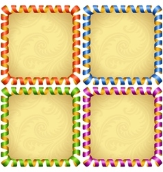 holiday square frame set vector image