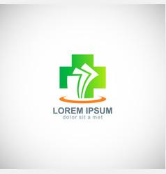 medic cross hospital paper logo vector image vector image