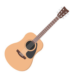 acoustic guitar flat icon music and instrument vector image