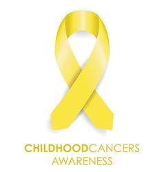 childhood cancer ribbon vector image