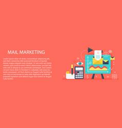 flat modern concept mail marketing banner vector image