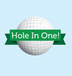 Hole in One vector image vector image