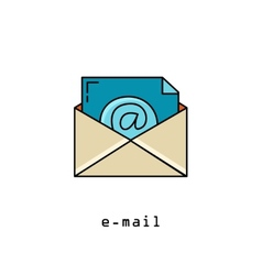 Concept representing email envelope vector image vector image