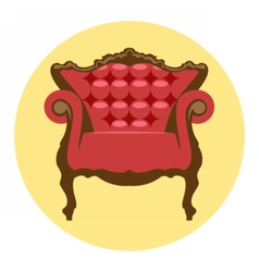 Digital red and brown vintage chair vector image
