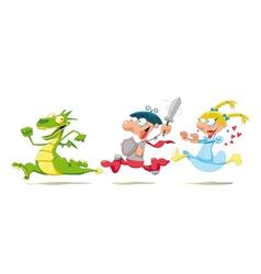 Dragon Prince and Princess vector image