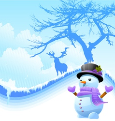 iceman with deer vector image vector image