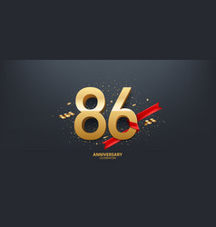 86th year anniversary background vector