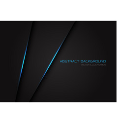 abstract dark grey with blue light line on blank vector image