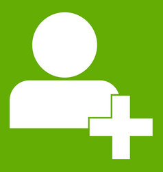 add new user account icon green vector image