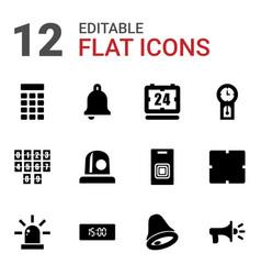 Alarm icons vector