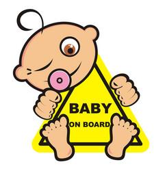 Babygirl in car vector