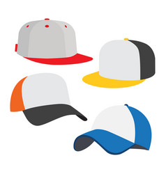Baseball cap icon set vector