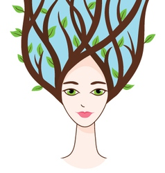 Beautiful woman of spring vector image